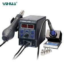 2019 <b>YIHUA 8786D Upgrade</b> Rework Soldering Station 2 In 1 SMD ...