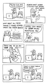 work ethic biased cat comics trust