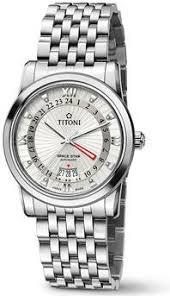 Мужские <b>часы Titoni</b> Space Star <b>94738</b>-<b>S</b>-<b>377</b>