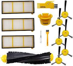 1 <b>Roller Main Brush</b> & 2 Filter & 4 <b>Side</b> Brushes & 1 Cleaning Brush ...