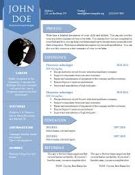 Resume Templates Word Free. free resume cv template download ... CurriculumVitae Template Word - resume templates word free