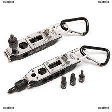 EDC <b>Multi-Tool Adjustable Wrench</b> Jaw Screwdriver Plier Knife ...