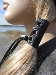 <b>Leather</b> Hair Ties <b>Wraps</b> Black Ponytail Holder Hair Jewelry ...