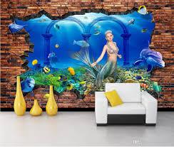 WDBH 3d Wallpaper <b>Custom</b> Photo Mural Underwater World ...