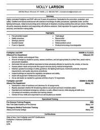 firefighter resume example   firefighter resume  resume examples    firefighter resume examples   emergency services sample resumes   livecareer