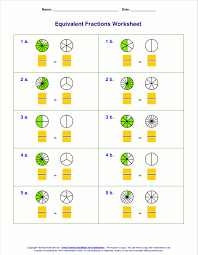 Free equivalent fractions worksheets with visual modelsEquivalent fractions with visual models