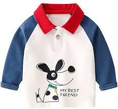 famuka <b>Boys Cartoon Polo Shirts Kids</b> Autumn Casual Long Sleeve ...
