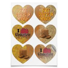 Наклейки-сердца 7.5×9.7 см I <3 chocolate #2550816 – заказать ...