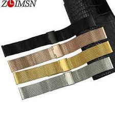 <b>ZLIMSN</b> Mens Stainless Steel Quick Release <b>Watch Band Mesh</b> ...