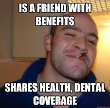 is a friend with benefits shares health, dental coverage - Misc ... via Relatably.com