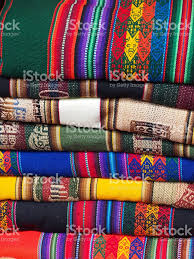 stack of colorful blankets stock photo   istock