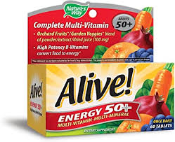Nature's Way Alive! High Potency Energy 50+ Multi ... - Amazon.com