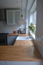 kitchen worktops ideas worktop full: kitchen renovation reveal ikea veddinge grey kitchen with wood worktop and white subway tiles