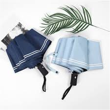 Buy 1 Piece Rain <b>Umbrella</b> Solid Color <b>Three</b> -<b>Folding Striped</b> ...