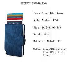 <b>BISI GORO</b> 2020 New Colorful Credit Card Holder RFID Blocking ...