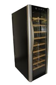 HOMEIMAGE Thermo <b>Electric Wine</b> Cooler with Wooden Rack ...