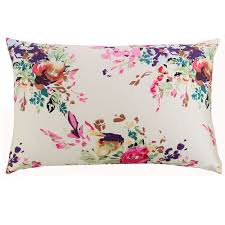 <b>New Free shipping 100</b>% nature mulberry floral silk pillowcase ...