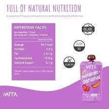 Happa <b>Organic Baby Food</b>, <b>Fruit</b> Puree (Mango+Banana) Stage 2, 6 ...