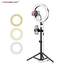 <b>LED</b> Ring Light 16/20/26cm 5600K <b>Dimmable</b> Selfie Ring Lamp ...