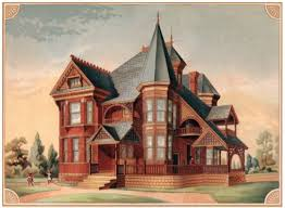 A Queen Anne Victorian Designed in but Built in Engraving of Victorian home s Kansas City MO