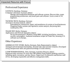 resume experience how to focus a resume on relevant job experience how to focus a resume on relevant job experience dummiesseparate your relevant job experience in a