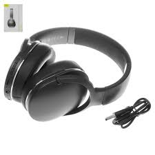 Headphone <b>Baseus D02</b>, (wireless, <b>black</b>, with micro-USB cable ...