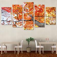 Autumn Maple Tree - Modern Wall Art <b>HD</b> Painting <b>Printed</b> On ...