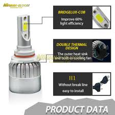 2PCS H1 110W 32000LM COB <b>C6 Car LED Headlight</b> Bulbs ...