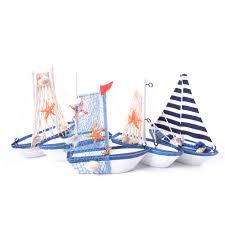 New 1pcs Table Ornament Wood Crafts Toy <b>Kids</b> Gift Mini <b>Sailing</b> ...