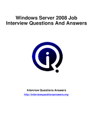 windows server interview questions answers guide