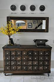 rustic apothecary i actually like the mirror better than the console also i apothecary style furniture patio