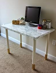 marble top desk diy cover desk