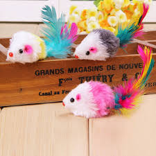 4pcs Funny Mouse <b>Cat</b> Kitten Real Fur Gravel <b>Sounds</b> Toy Faux ...