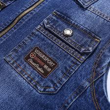 New Fashion Cowboy <b>Streetwear Reversible</b> Denim Vests <b>Men</b> ...