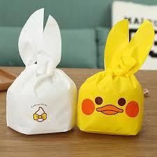 <b>50Pcs</b> Cute <b>Yellow</b> White Duck Gift Bag Easter Candy Gift Set ...