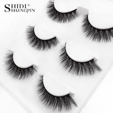 Buy Generic <b>SHIDISHANGPIN</b> 3 Pairs <b>3D Mink Eyelashes</b> ...