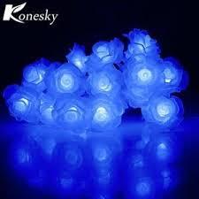 20-LED <b>Love Rose LED String</b> Lighting Night Light Flower fairy ...