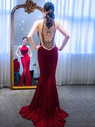Sexy Solid Color Red Evening Dresses <b>2019</b> Trumpet / Mermaid ...