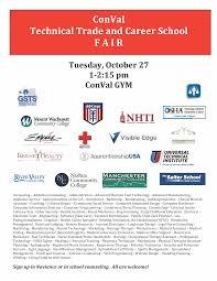 explore trade and career options conval regional high school ttcsfairflyer2015