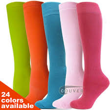 Couver Hot Pink Softball/Sports Purple <b>Striped</b> Knee High Athletic ...