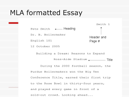 Mla Style Essay Format Mla Style Essay Format Mla Style Essay How