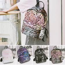 <b>Stylish Glitter Sequins</b> Backpack <b>Women</b> School Bags for Teenage ...
