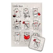<b>Кухонный</b> набор <b>Северные мишки</b> (<b>полотенце</b> 45х60+прихватка ...