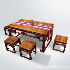 african pear sandalwood hedgehog ming style mahogany furniture hook tea table six chairs a tenon african style furniture