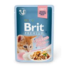 <b>Brit Premium GRAVY</b> Chiсken fillets for kitten <b>Пауч</b> кусочки из ...