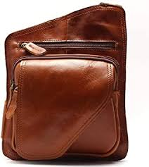 Shidn New <b>High Quality Vintage</b> Casual Leather Men Chest Bag ...