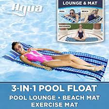 Aqua 3-In-1 Roll-Up Pool Float, Padded Mat For ... - Amazon.com