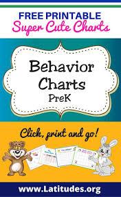 printable behavior charts for teachers students pre k behavior charts prek
