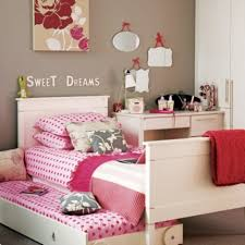 modern home interior for teen girl bedroom design ideas showing alluring white hard wooden bed frame using elegant square tapered base leg and snug pink captivating ultra modern home bedroom design