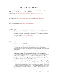 subcontractor agreement forms by beunaventuralongjas subcontractor agreement forms by beunaventuralongjas subcontractor agreement form